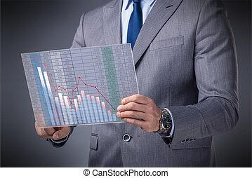 ビジネスマン, 概念, 取引, 株式取引所