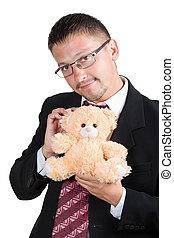 ビジネスマン, 熊, テディ