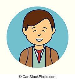 ビジネスマン, 特徴, 若い, avatar