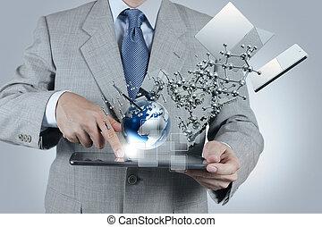 ビジネスマン, 現代 技術, ショー