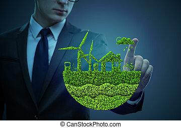 ビジネスマン, 生態学的, 概念, 緑