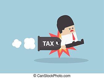 ビジネスマン, 税, 銃弾, 攻撃される