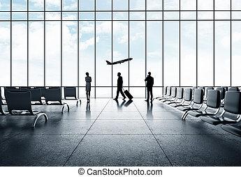 ビジネスマン, 空港