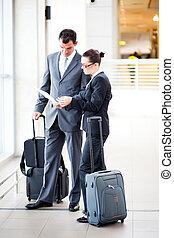 ビジネスマン, 空港, 女性実業家