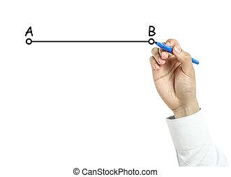 ビジネスマン, 線, b, 図画