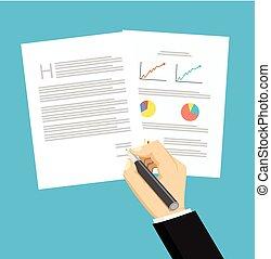 ビジネスマン, 署名の契約