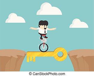 ビジネスマン, 自転車, ドライブしなさい, ターゲット