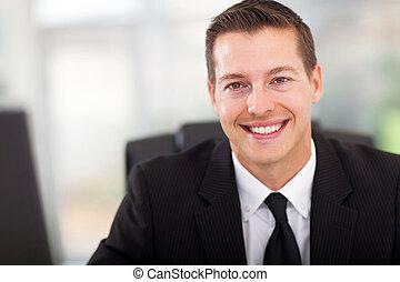 ビジネスマン, 若い, オフィス