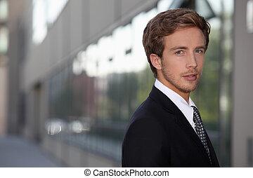 ビジネスマン, 若い, ハンサム