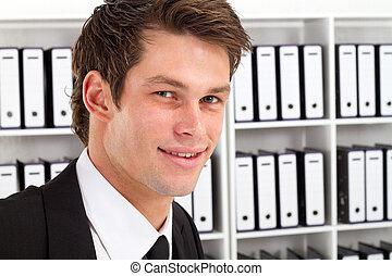 ビジネスマン, 若い, 肖像画