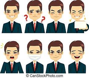 ビジネスマン, 表現, avatar