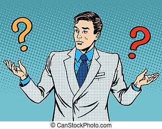 ビジネスマン, 誤解, 質問