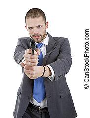 ビジネスマン, 銃