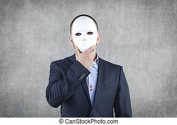 ビジネスマン, 隠された, の後ろ, ∥, マスク