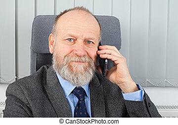 ビジネスマン, 電話