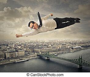 ビジネスマン, 飛行
