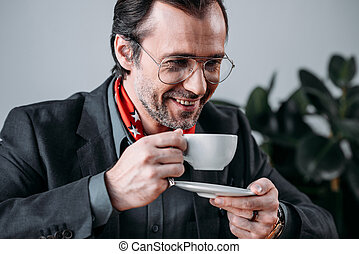 ビジネスマン, 飲む コーヒー