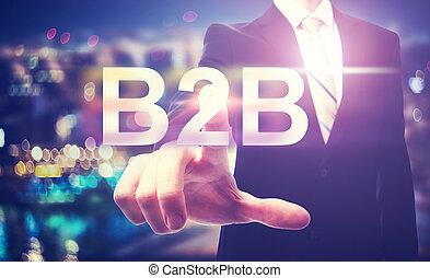ビジネスマン, b2b, 指すこと