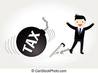 ビジネスマン, concept., 税