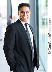ビジネスマン, indian, 黒いスーツ
