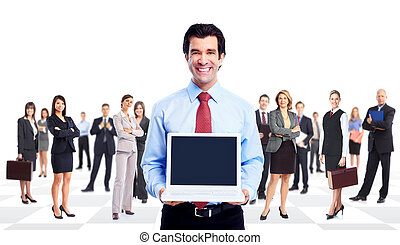 ビジネスマン, laptop.
