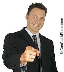 ビジネスマン, pointing.