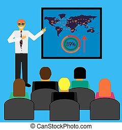 ビジネスマン, presentation., seminar., ビジネス, 作成