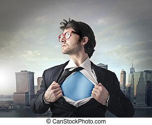 ビジネスマン, superhero