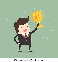 ビジネスマン, trophy., 保有物