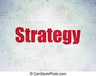 ビジネス戦略, ペーパー, 背景, デジタル, データ, concept: