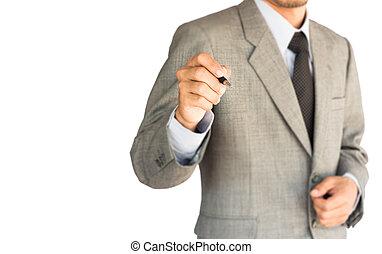 ビジネス戦略, 背景, 白, 図画, 人