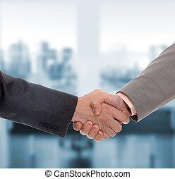 ビジネス男性たち, 手の 振動