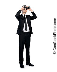 ビジネス男, ∥で∥, 双眼鏡