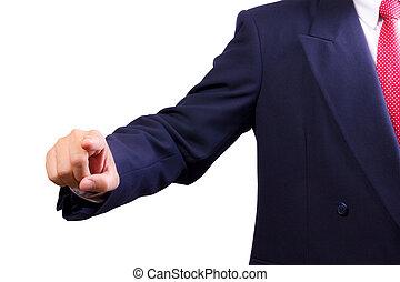 ビジネス男, とんびが指さす, 手