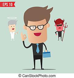 ビジネス男, 選り抜き, 選択, -, ベクトル, イラスト, -, eps10