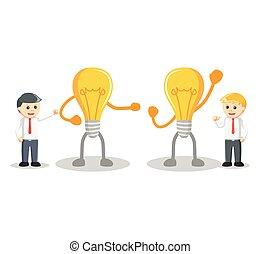 ビジネス考え, 競争, 人
