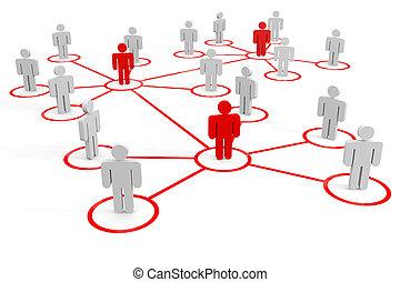 ビジネス, ∥あるいは∥, 社会, network., concept.