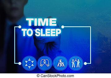 ビジネス, ∥あるいは∥, 自然, 提示, 概念, 手, 期間, 執筆, sleep., 州, inactivity., テキスト, 眠り, ありなさい, 写真, 時間