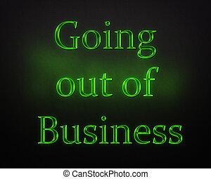 ビジネス, から, レタリング, 閉じられた, 輝き, 行く