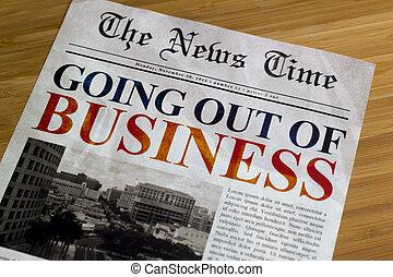 ビジネス, から, 行く