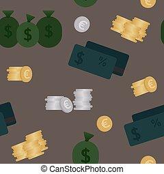 ビジネス, そして, 金融, seamless, pattern., 背景, ∥ために∥, ビジネス, 中に, 暗い,...