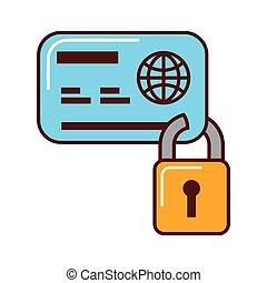 ビジネス, クレジット, セキュリティー, 銀行カード