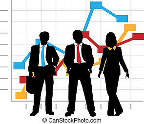 ビジネス, グラフ, 会社, 販売チャート, 成長, チーム