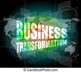 ビジネス, スクリーン, 感触, 言葉, インターフェイス, 変形
