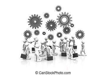ビジネス, チームワーク, 収集, チーム, 概念