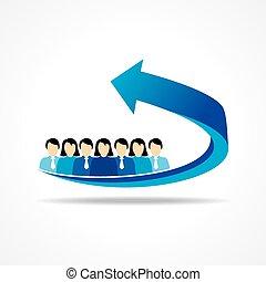 ビジネス, チームワーク, 概念