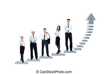 ビジネス チーム, ある, 地位, 上に, a, grap
