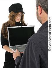ビジネス チーム, ∥で∥, コンピュータ