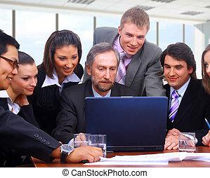 ビジネス チーム, 中に, オフィス