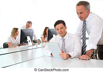 ビジネス チーム, 仕事, 中に, オフィス